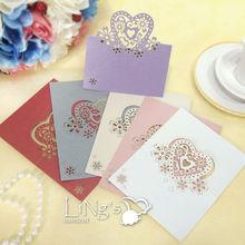 Love Heart Blank Laser Cut Wedding Invitation Card Wedding Invites Place Cards