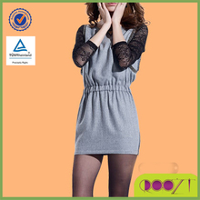 2015 Winter Popular Korea Style Fold Women Neck Design Of Dress Indian
