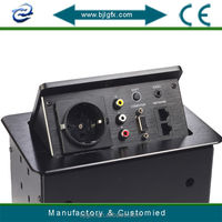 Hidden Table top box Conference table power outlet