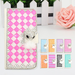 Hand-made bling bling rhinestone crystal diamond leather case for Huawei Ascend G8