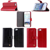 high quality crazy horse Genuine leather cover case for iPhone 5 5s