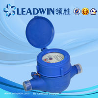 Residential Cold Hot Water Brass Body Water Flow Meter for Pipe Connector