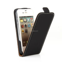 mobile phone accessories flip design soft pu leather case for iphone4/4s