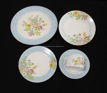 full decal elegant design blue flower dinner sets porcelain