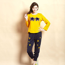 Factory direct autumn long-sleeved tracksuit suit pajamas casual fashion Sleepwear