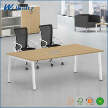 Cheap price conference table 1.6 meters wooden with steel leg of small meeting table