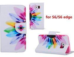 Tablet case Dandelion pu folio leather case for Samsung galaxy S6 super slim fit