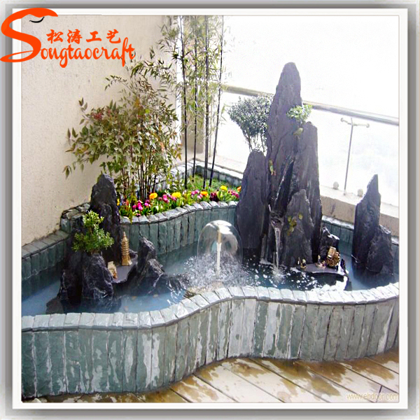 Chinese Fiberglass Indoor Fountains And Glass Waterfalls With Pumps Artificial Decorative Small