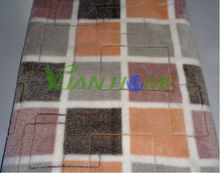 Soft Thick Polyester Checkered Pattern Fleece Blanket (YH-2022B)