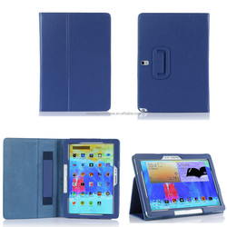 folio stand PU leather tablet case for Samsung Note 10.1 2014 P600