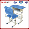 Colourful handle adjustable metal frame student desk and chair