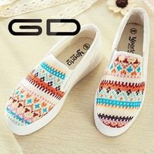 Mixed color spring summer fashion ladies casual shoe for women