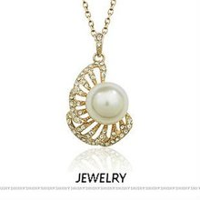 (n05193)silver pearl jewelry,925 silver necklace with fresh water pearl and Cz stone,gold/rhodium/pink gold plating available.