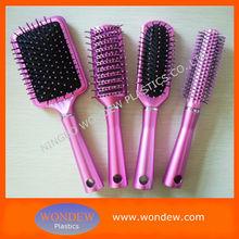 Plastic salon hair brush with popuplar color