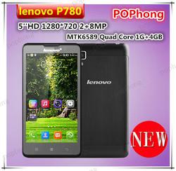 Original Lenovo P780 Smartphone 5 inch Corning II Gorilla Glass 1280*720 Quad Core MTK6589