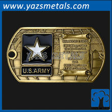 custom metal brass dog tags with antique and enamel finish