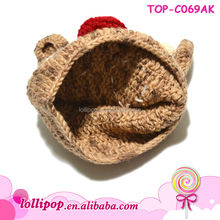 Hot sale lovely christmas wholesale crochet baby hat patterns free