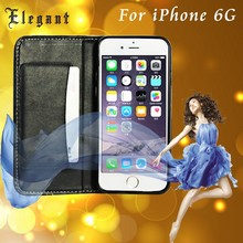 New lychee PU wallet leather case for iphone 6+ with credit card design and stand function
