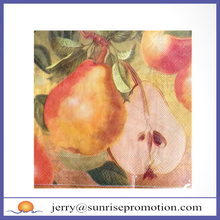 Printing Yellow Pears Eco Fascinating Party Napkins