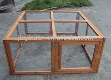 Wire mesh cage for rabbits / wooden rabbit run
