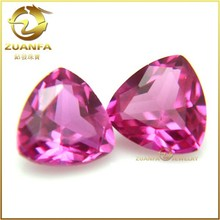 3# corundum material cutting trillion cut synthetic ruby