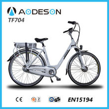 City electric bicycle/bike, ebike, bicicleta electrica TF704 with 36V lithium battery and 250W brushless motor