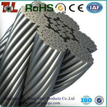 316 Stainless Steel Wire Rope Manufacturer Stainless Steel Wire 12mm 7x7 1x19 6x36 7x19 7x37 Tensile Strength 1570 Mpa