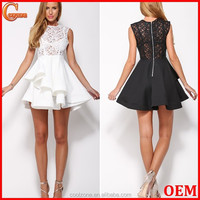 Elegant style fitted lace party dress imported from China