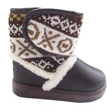 2015 children new design wedge warm beautiful snow boots