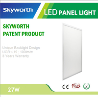4000-4500K 27w 300x600 suspending Shenzhen Skyworth UGR<19 ultra-thin square led panel light