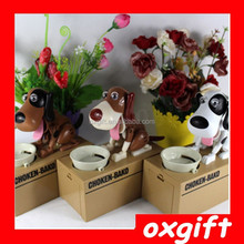 OXGIFT hapy cow toys Hot Sales! Eating money dog, Feed Money Bank, Eat coin dog miser eat money piggy bank