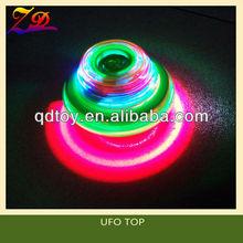 Hot sale kids led UFO spinning top