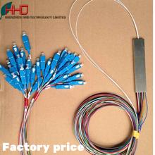 Fiber Optic 2 X 32 micro plc splitter with SC FC ST LC APC / PC