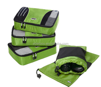 3pcs Set Packing Cubes - Travel Organizers with Laundry Bag