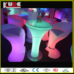 coffee shop patio led light round table made in China