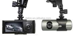 "X3000 Car DVR 2.7"" Dual Camera Digital Video Recorder GSensor GPS"