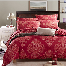 Popular Cheap Luxury china duvet cover set ,Bed Linen, Red Floral Duvet Covers Wedding sets