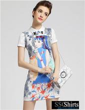 sscshirts diseño cómodo y suave chica barato ropa de fiesta vestido de occidental