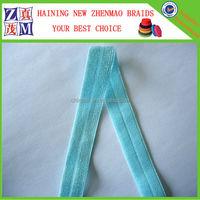 15mm elastic glitter fold over tape