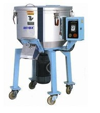 plastic Tumbling machine with vertical paddle mixer