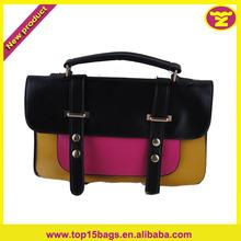 set of 3 pieces Oil painting edge design assort pu satchel lady bags