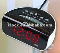 Digital Square red led digital alarm table clock