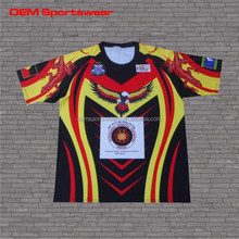 Sublimation printed mutispandex rugby jersey