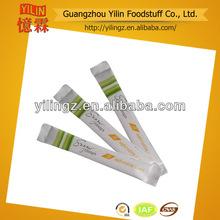venta al por mayor 5g orgánico refinado de caña de azúcar blanco sobres condimentos con certificados haccp y la iso