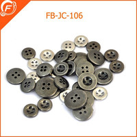 platastic abs gunmetal four hole round plating button