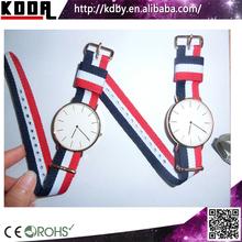 2015 Gold Plated Wrist Watch Nylon Or Fabric Strap China Watch
