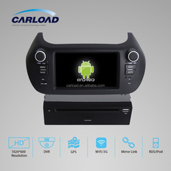 Android 4.4.4 quad core touch screen car dvd gps for 2 din fiat fiorono