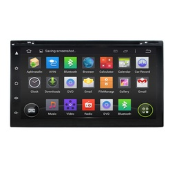 7 Inch Android Double Din Universal Car audio system with dvd, radio, gps Navigation