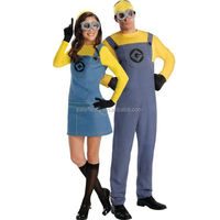 Hot sale carnival costume women sexy adult animal despicable me minion movie costume QAWC-1001