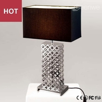 Modern table lamp hollow art metal new table lamps
